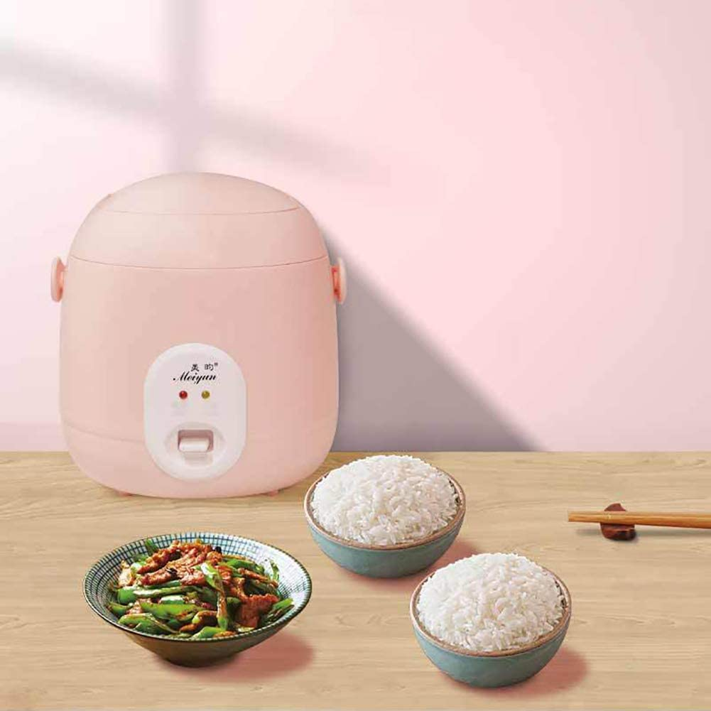 XINX Mini Rice Cooker Multifunction Non Stick Cooker with Keep Warm Function for Up To 3 People,Student And Adult Suitable for Home Use,Pink Pink