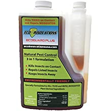 EcoGuard Plus, 8 oz, All Natural Tick and Mosquito Control, Kid Safe, Pet Safe, Non-Staining Lawn Spray Concentrate