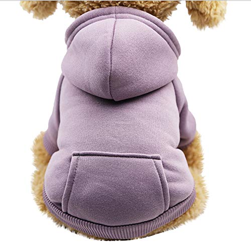 Dog Sweatshirt, Laimeng_World Pet Dog Cat Winter Warm Hoodied Sweatshirts with Pocket Winter Dog Clothes Pet Clothing