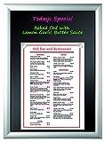 MasterVision Wet Erase Click Board Magnetic & Sign Holder, 18'' x 24'', Black