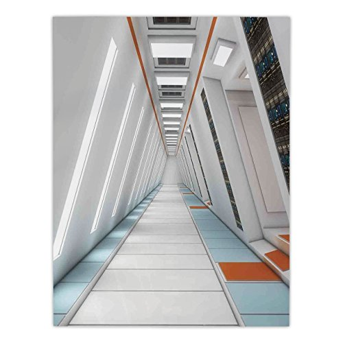 - Polyester Rectangular Tablecloth,Outer Space Decor,Architecture of Spacecraft Rocket Travel Cosmos Future Mass Coordinate,Orange White,Dining Room Kitchen Picnic Table Cloth Cover,for Outdoor Indoor