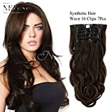 "Neitsi 22"" 7pcs 140g Curly Wave Synthetic Clips in on Hair Extensions Full Head Set HairPieces 14Colors avaliable (6#)"
