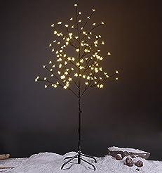 LIGHTSHARE 5FT LED Star Light Tree, Warm...