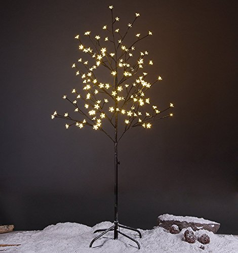 Lightshare 5FT LED Star Light Tree, Warm Light, Brown