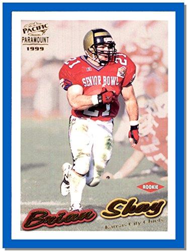 1999 Pacific Football Card Paramount Gold  121 Brian Shay Emporia State Kansas City Chiefs