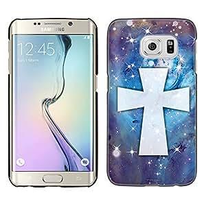 Samsung Galaxy S6 Edge Plus Case, Snap On Cover by Trek Maltese Cross on Nebula Blue Case