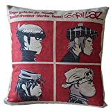 JGArtStore Gorillaz Band Hip-pop Music Comic 45222 Throw Pillow Case Cushion Covers Square 18x18 Inch
