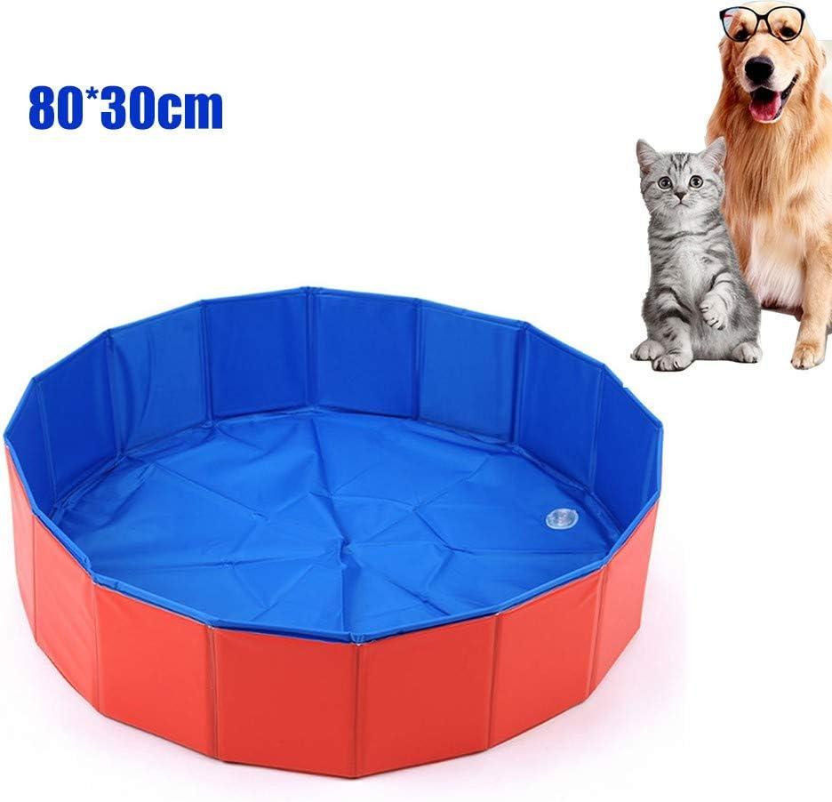 Piscina para Perros, Piscina Plegable para Mascotas, Bañera Y Piscina para Niños, Piscinas Plegables De PVC para Piscina Plegable para Perros, Gatos Y SPA para Niños, 80 * 30cm