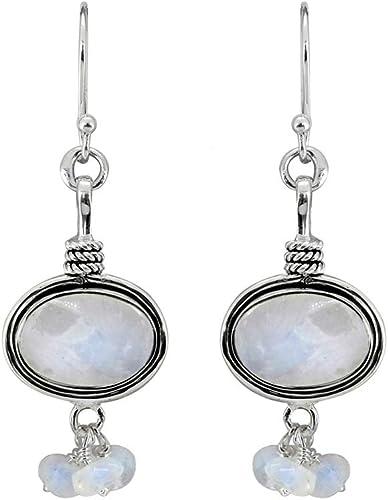 YoTreasure 1 1//4 Solid 925 Sterling Silver Two Tone Stud Earrings