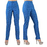 Lior Paris LIZE a Classic Fit Straight Pant For EveryBody Spring Summer Colors (1, GRAF-ROYAL)