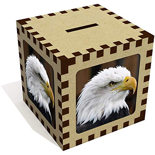 Azeeda 'Bald Eagle' Money Box / Piggy Bank - Coins Eagle Bald