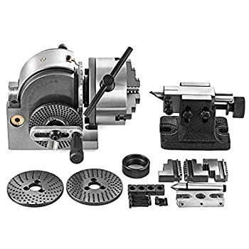 Image of Home Improvements Mophorn Dividing Head BS-0 5Inch 3 Jaw Chuck Dividing Head Set Precision Semi Universal Dividing Head for Milling Machine Rotary Table Tailstock Milling Set (5 Inch Chuck)
