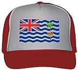 British Indian Ocean Territory Flag Trucker Hat Cap Red