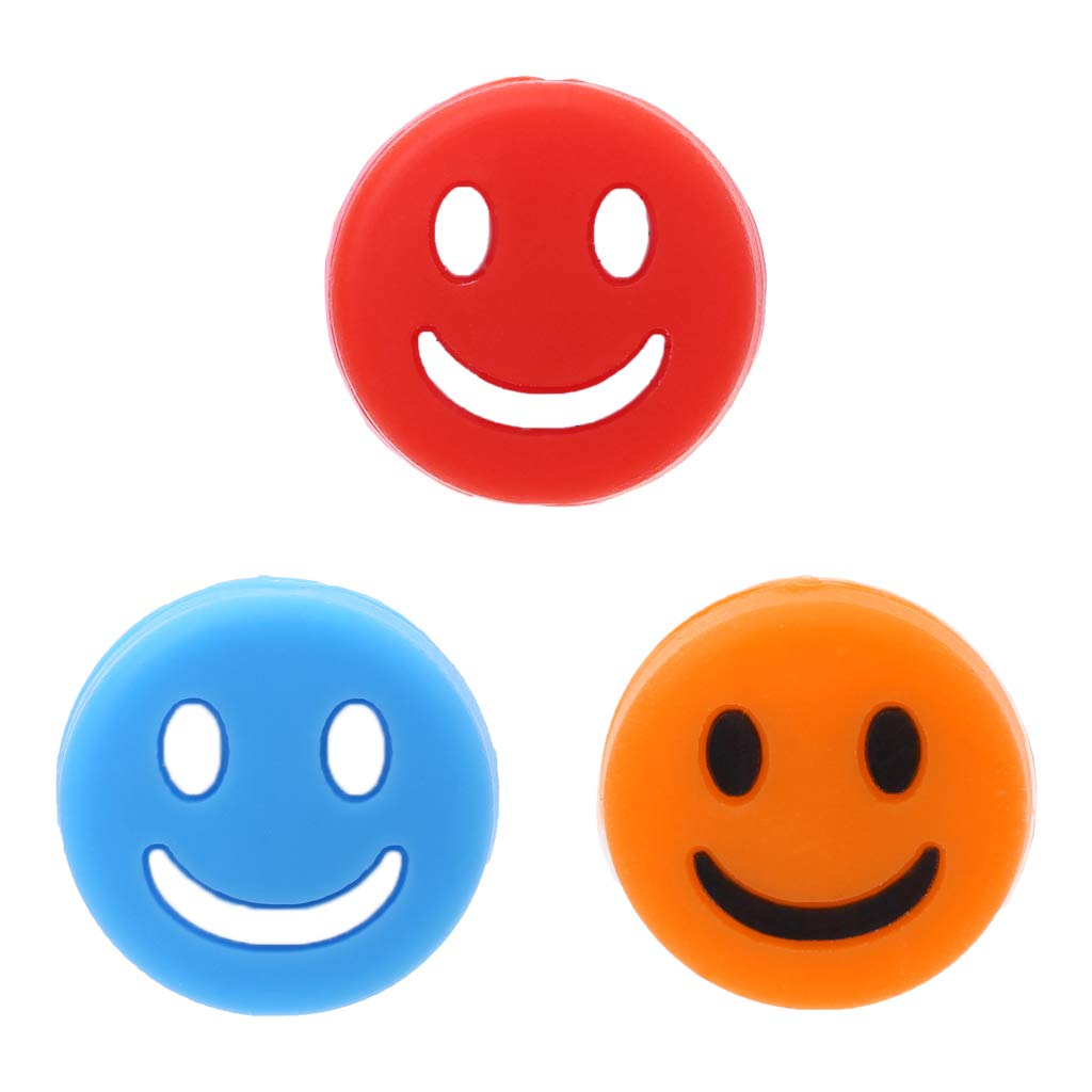 TwJim Silicone Smile Face Tennis Racquets Vibration Absorbers Outdoor Sports Supplies