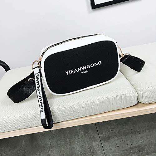 la Noir bandoulière Sauvage Sac bandoulière Bag WSLMHH Taille de Petit de Photo Mode marée Femme Sac coréenne à Sac Messenger 0OaHwzq