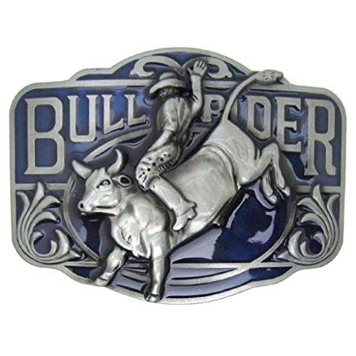 Western Native Bull Rider Belt Buckles Cowboy Large Buckles for Belts for Men & Women