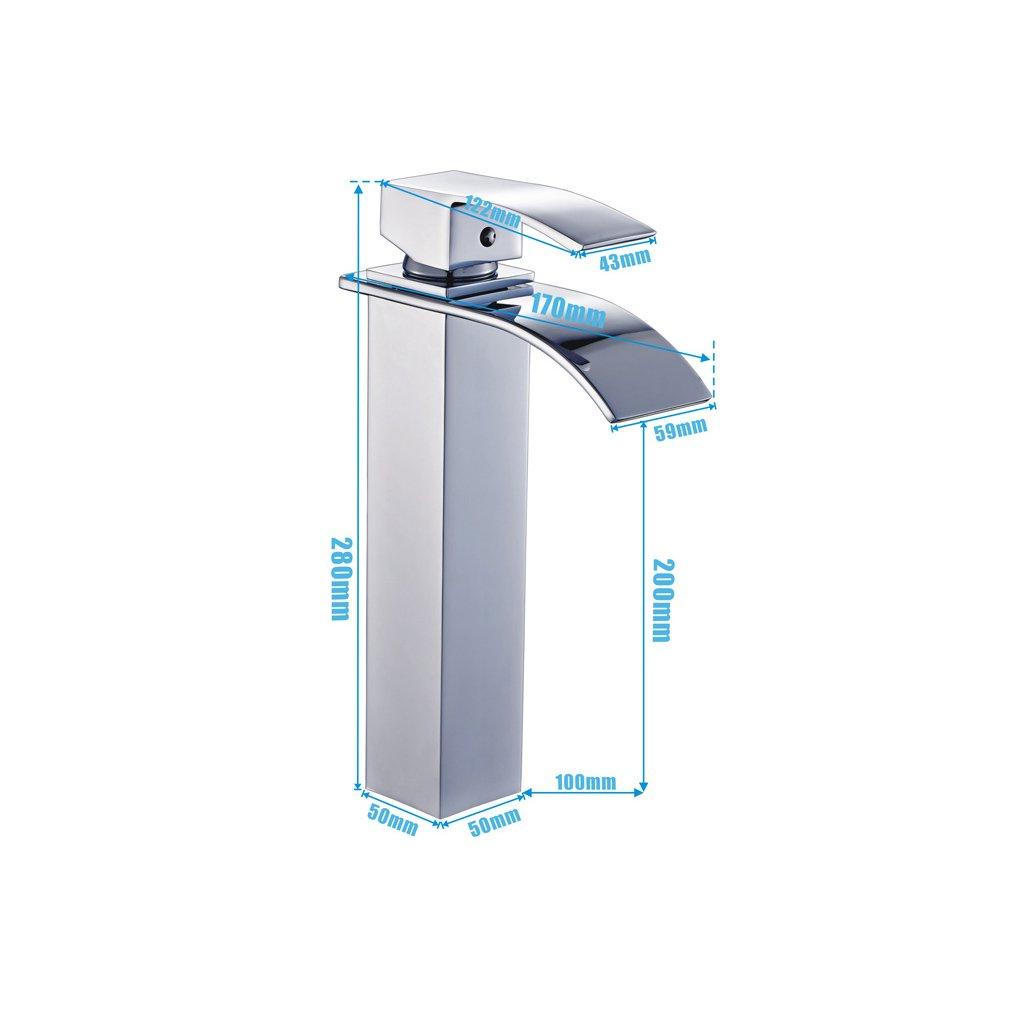 Auralum® design verlängerte mitigeur monocommande robinet cascade ...