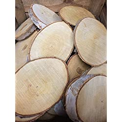 Natural Log Slice Birch Tree Bark Wedding Table Decoration Centerpiece 15-22cms