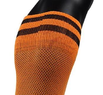 Girls' 1 Pair Knee Length Sports Socks for Baseball/Soccer/Lacrosse XL003 XXS(Orange)