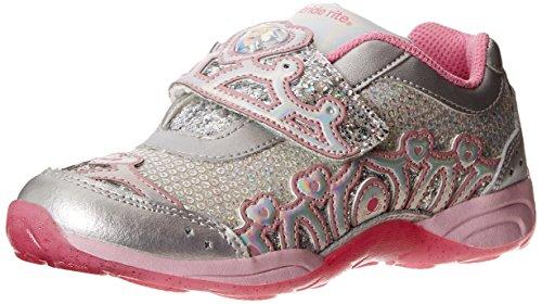 Stride Rite Disney WL Cinderella Light-up Athletic Shoe (Infant/Toddler/Little Kid),Silver/Pink,13.5 M US Little ()