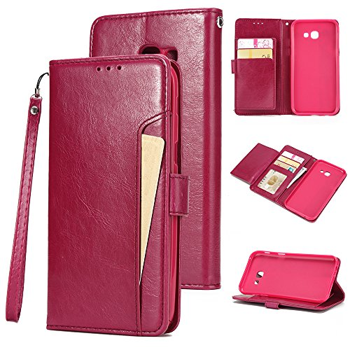 - Torubia Samsung Galaxy A7 (2017) A720 case, Pouch Samsung Galaxy A7 (2017) A720 Pouch Built-in Stand Function for Samsung Galaxy A7 (2017) A720 - Peach Red Leather