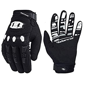 Seibertron Dirtpaw Unisex BMX MX ATV MTB Racing Mountain Bike Bicycle Cycling Off-Road/Dirt Bike Gloves Road Racing…