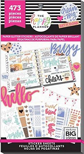 Create 365 Happy Planner Sticker Value Pack, 473 Paper Glitter
