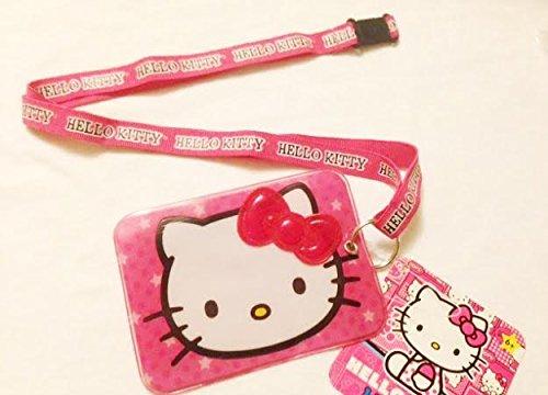 (Hello Kitty Lanyard keychain with ID Badge Holder)