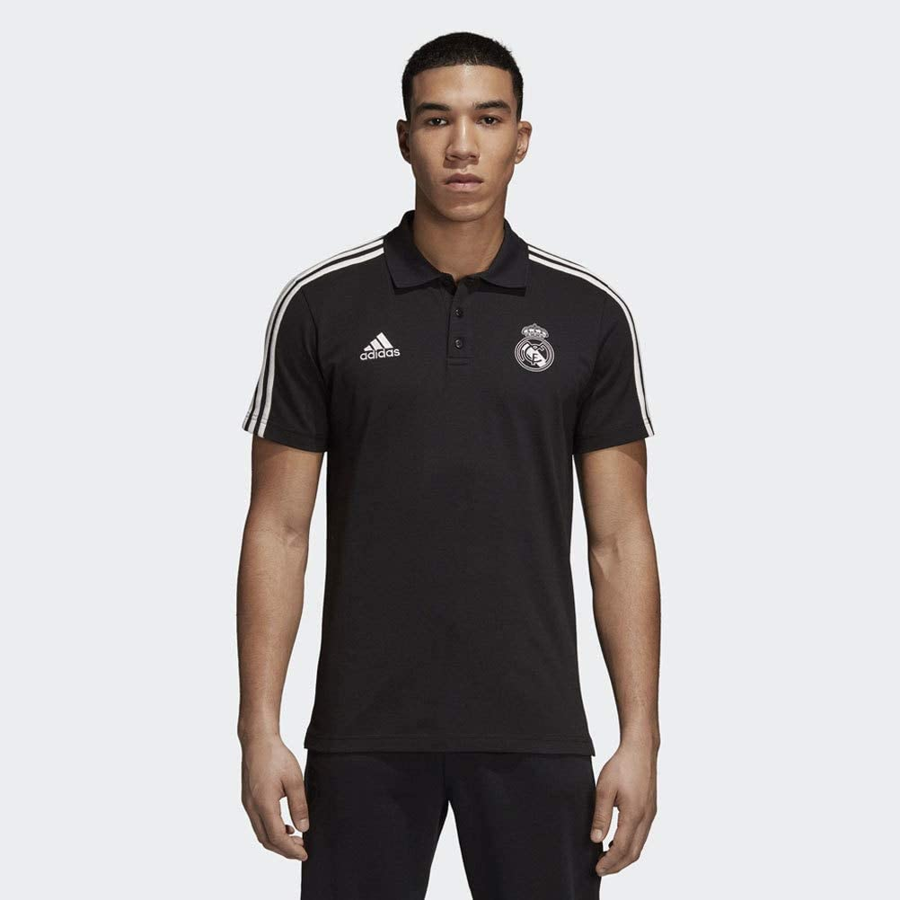 adidas 2018-2019 Real Madrid 3S Polo Football Soccer T-Shirt ...