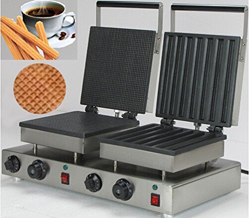 Boshi Electronic Instrument® NP-580 110V/220V Rectangle Cone Waffle And Churros Waffle Maker 2 in 1 Waffle Baking System Waffle Toaster CE Certification (Toaster Oven 2 In One compare prices)