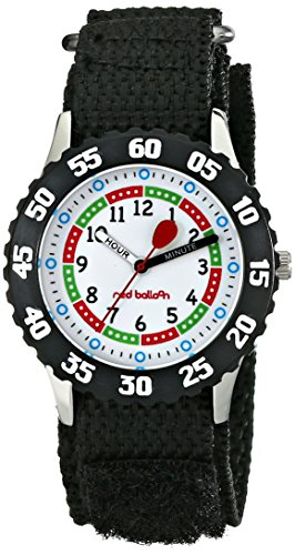 Red Balloon Kids' W000176 Black Nylon Stainless Steel Time Teacher Watch
