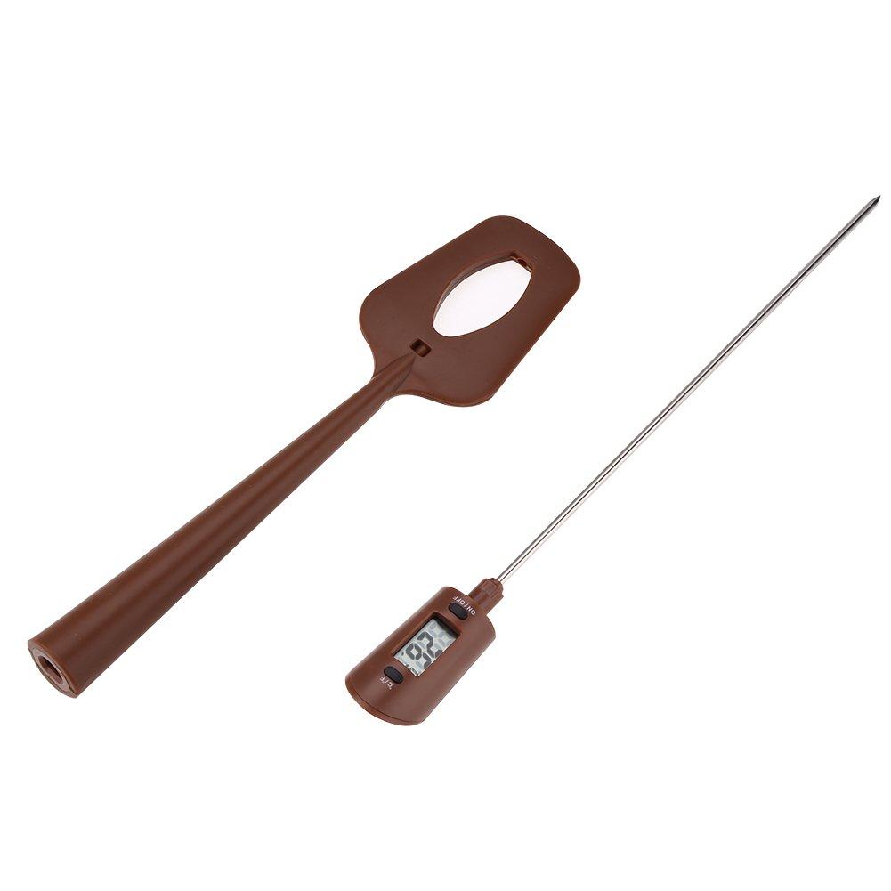 sirop Thermom/ètre de Cuisine Digital Thermom/ètre avec spatule portable pour le chocolat sauce gril ℃ // ℉ confiture barbecue lait moussant