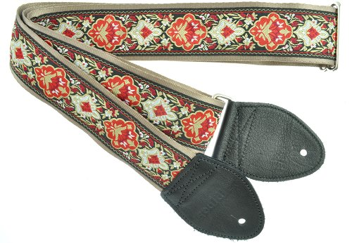 Souldier GS0402GD04BK Custom USA Handmade Electric Guitar Strap - Cabernet Burgundy ()