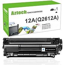 Aztech1Pack12AQ2612A TonerCompatibleforHP12AQ2612ABlack TonerCartridgesforHPLaserJet1020 1012 1022 1010 1018 1022n 3015 3030 3050 3052 3055 M1319F Printer
