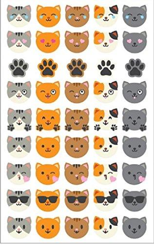 Mrs Grossman Sticker Roll - Mrs Grossman's Stickers Cat Face Emotions Giant Roll