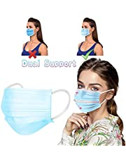 MZRI Disposable Protective Mouthcove, Three-Layer High-Densityfilter,Shape of Person's Face Three-Dimensional Double Support Mouthcove