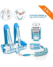 Toddler Leash for Walking, Toddler Safety Harnesses Leashes, Safety Harness with Lock for Kids, Anti Lost Wrist Link Safety Wrist Link for Toddlers ,Upgrade with Reflective Tape Liner(6.5ft) for Kids