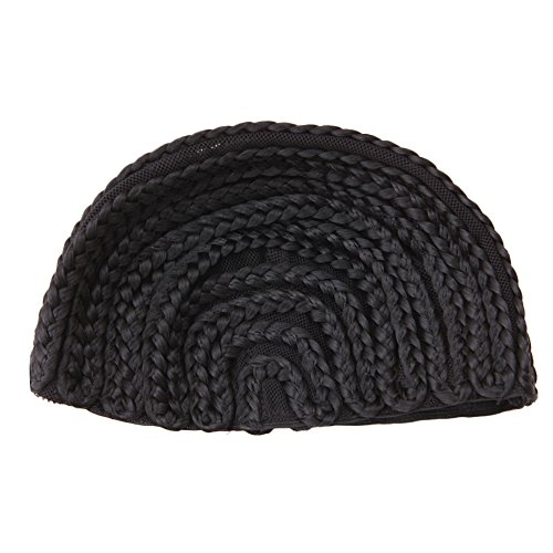[Kocome 1Pc Cornrow Wig Caps For Making Wigs Adjustable Braided Wig Weaving Lace Cap (S)] (Cornrow Wigs)