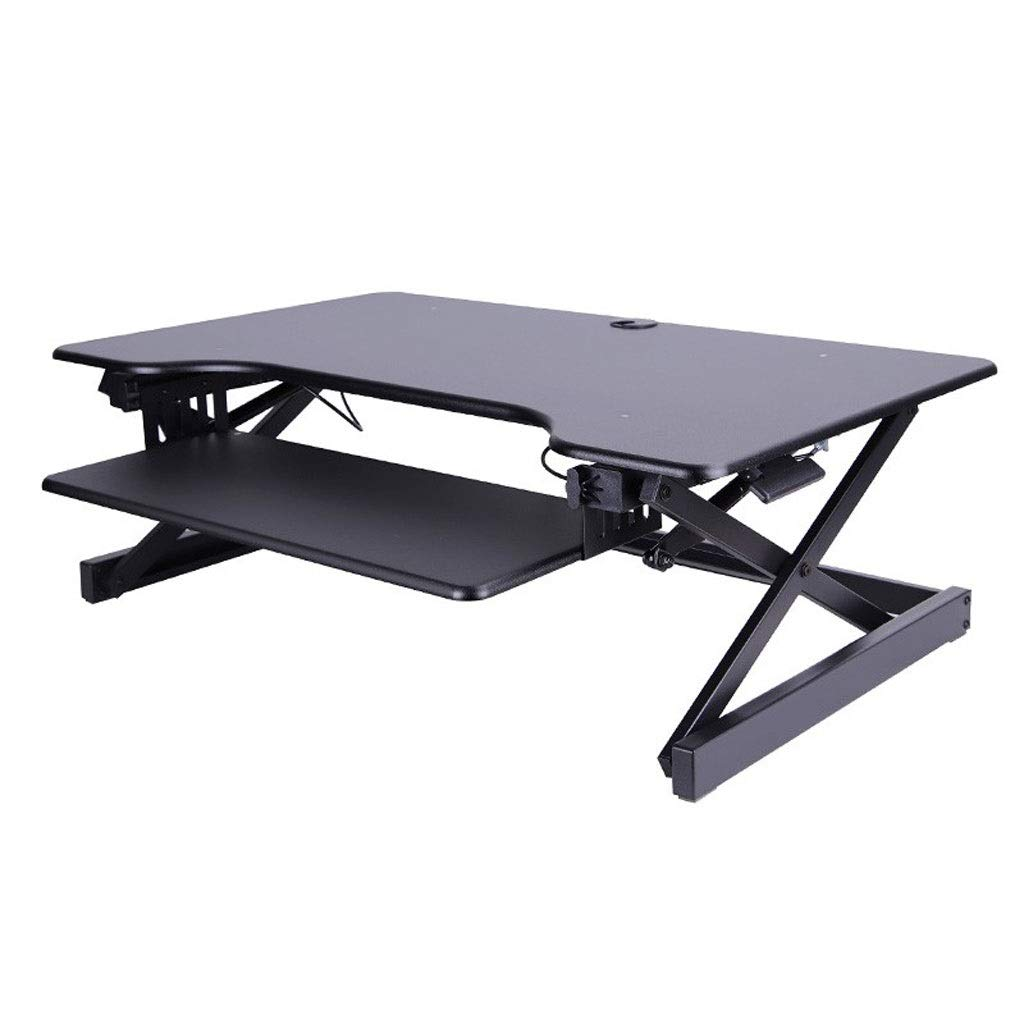 XJY Stand-up Computer Lift Table Adjustable Table Desk Desktop Computer Desk Notebook Table