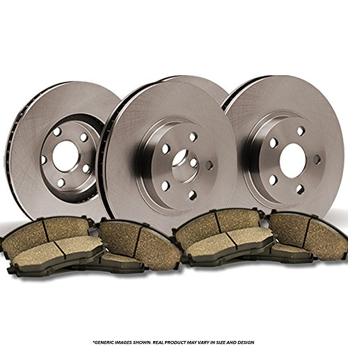 (Front+Rear Kit)(OE SPEC)(Perfect-Series) 4 Disc Brake Rotors & 8 Ceramic Pads(Mustang)(5lug)-(Ships from (04 Ford Mustang Spec)