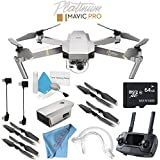 DJI Mavic Pro Platinum CP.PT.00000071.01 + Deluxe Cleaning Kit + 64GB microSDXC + Fibercloth Bundle