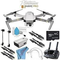 DJI Mavic Pro Platinum CP.PT.00000071.01 + Deluxe Cleaning Kit + 64GB microSDXC + Fibercloth Bundle