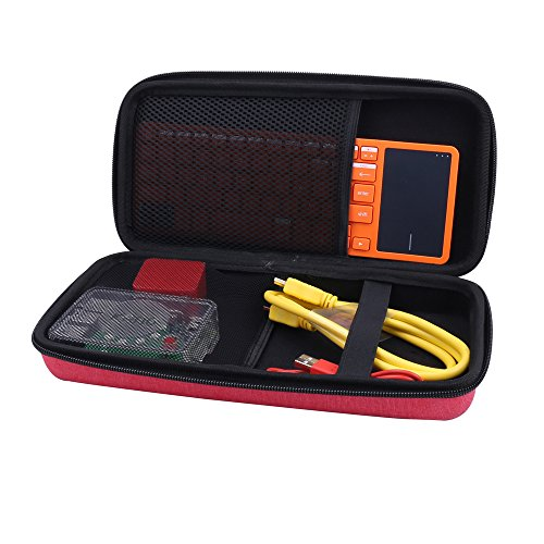Storage Carrying Case for Kano Computer Kit Coding Toy fits Motion Sensor/Pixel Kit by Aenllosi (Red)