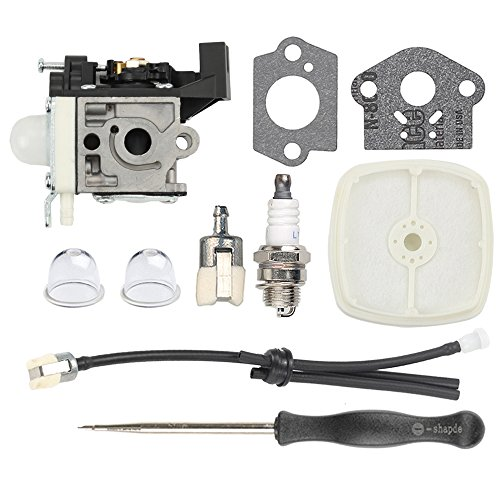 Savior Carburetor RB-​K93 GT-225 SRM-225 with Fuel Line Kit Adjustment Tool for Echo PE-225 GT-225 GT-225I GT-225L GT-225SF PAS-225 PAS-225 PAS-225SB PAS-225VPB Carb Trimmer Brushcutter A021001692 by Savior