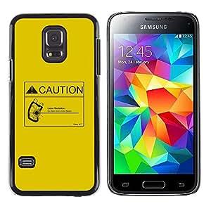 LECELL--Funda protectora / Cubierta / Piel For Samsung Galaxy S5 Mini, SM-G800 -- Precaución Radiación Láser --