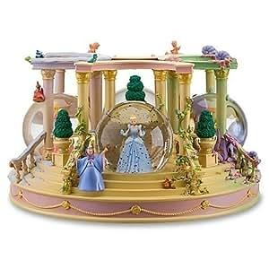 Disney Store Disney Princess Four Seasons Musical Snowglobe Featuring Detachable Princesses Cinderella, Belle, Aurora (Sleeping Beauty) and Ariel Snow Globes