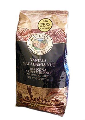Majestic Kona Coffee Vanilla Macadamia Nut 10% Kona Coffee (Ground) - 2.5 Pound Bag