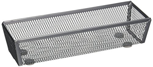 honey-can-do-kch-02160-steel-mesh-drawer-organizer-silver-12-inch-by-3-inch