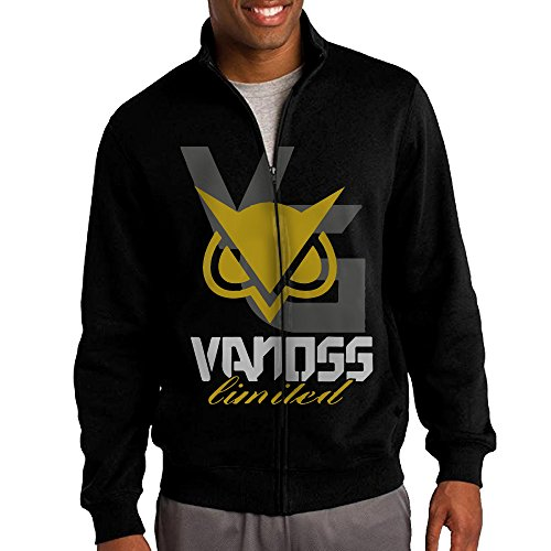 Beetful Vanoss Gaming Gold Owl Stand-up Collar Zipper Jacket Sweatshirt