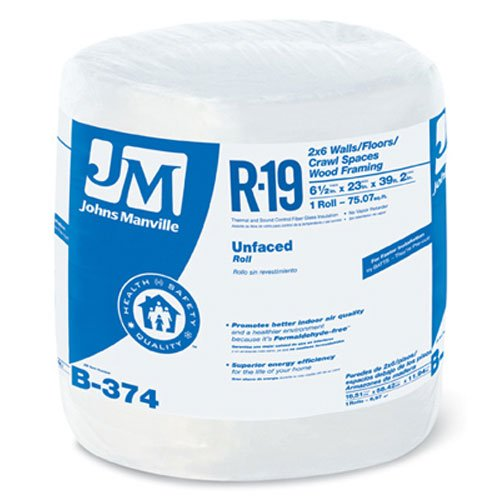 JOHNS MANVILLE INTL 90003722 Series R19 23''x39'2''Unfac Roll by JOHNS MANVILLE INTL